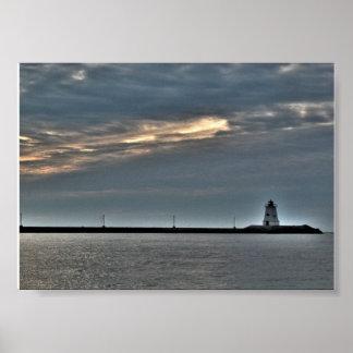 Gurnetの灯台プリマスマサチューセッツポスター プリント