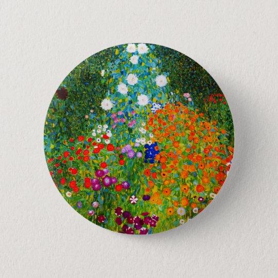 """Gustav Klimt , """" Farmhouse garden """" 5.7cm 丸型バッジ"""