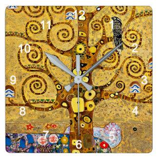 "Gustav Klimt , "" Tree of life "" スクエア壁時計"
