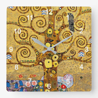"Gustav Klimt , "" Tree of life "" 時計"