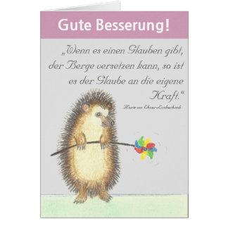 """""""Gute Besserung"""" Karte mit kleinem Igel カード"""