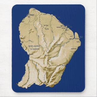 Guyaneの地図のマウスパッド マウスパッド
