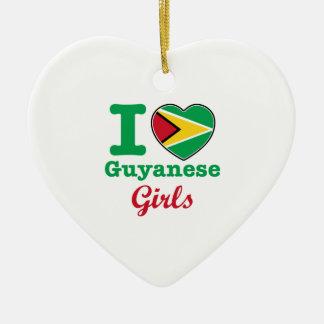 guyaneseデザイン セラミックオーナメント