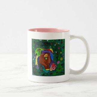 GVCS犬の芸術-オリビア ツートーンマグカップ