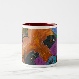 GVCS犬の芸術 ツートーンマグカップ