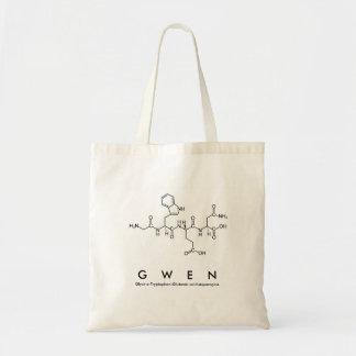 Gwenのペプチッド名前のバッグ トートバッグ
