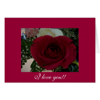 Gwen Billips著赤く、赤いバラの写真 カード