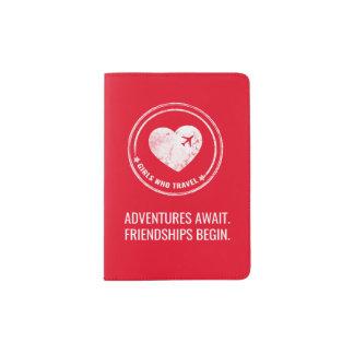 GWTのパスポートのホールダー(赤い) パスポートカバー