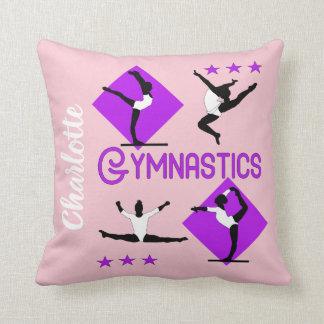 Gymnast Figures Cute Girls Gymnastics Personalized クッション