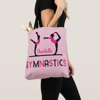 Gymnast Figures Cute Girls Gymnastics Personalized トートバッグ