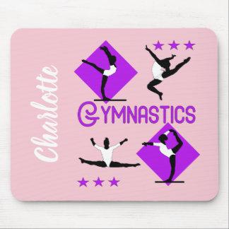 Gymnast Figures Cute Girls Gymnastics Personalized マウスパッド