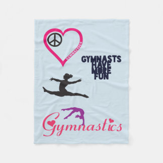 Gymnastics is in my Heart Blanket フリースブランケット