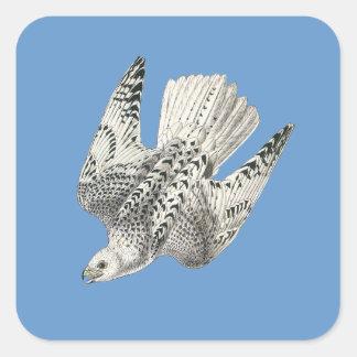 Gyrfalconの《鳥》ハヤブサのダイビングのヴィンテージの芸術 スクエアシール