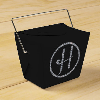 Hのモノグラムのきらきら光るな好意箱 フェイバーボックス