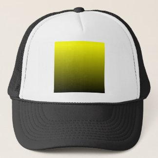 Hの線形勾配-黒への黄色 キャップ