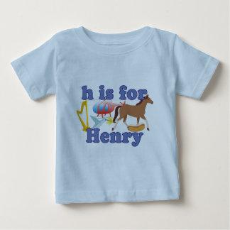 Hはヘンリーのためです ベビーTシャツ