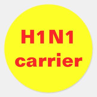 H1N1キャリア ラウンドシール