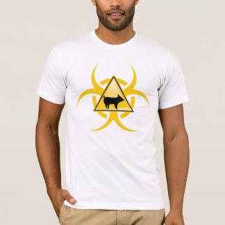 H1N1ブタのインフルエンザの生物学的災害[有害物質]のTシャツ Tシャツ