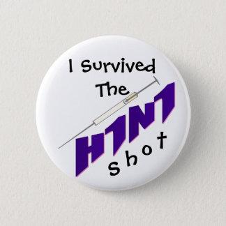 H1N1ワクチン接種ボタンPin 缶バッジ