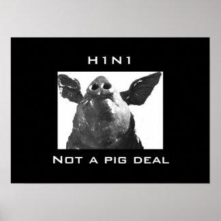 H1N1 -ないブタの取り引き ポスター
