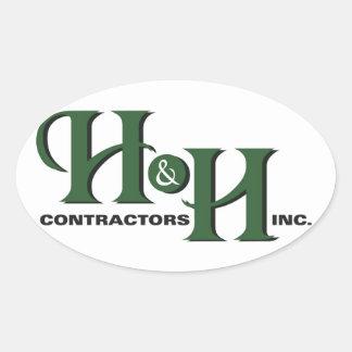 H&H Contractors Inc.の楕円形のステッカー 楕円形シール