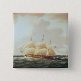 H.M.S. Minerva 5.1cm 正方形バッジ