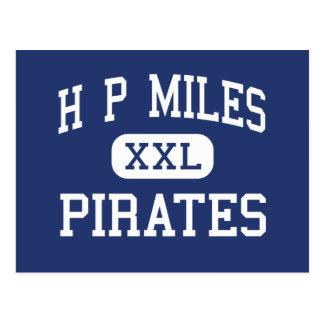H.P.マイルの海賊中学校Wacoテキサス州 ポストカード