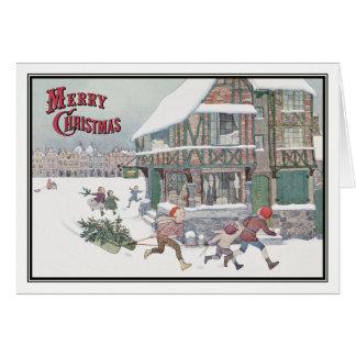 H. Willebeek Le Mair著ヴィンテージのクリスマスキャロル カード