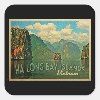 Ha長い湾の島ベトナム スクエアシール
