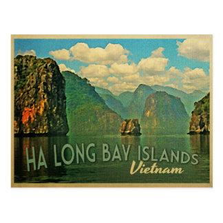 Ha長い湾の島ベトナム ポストカード