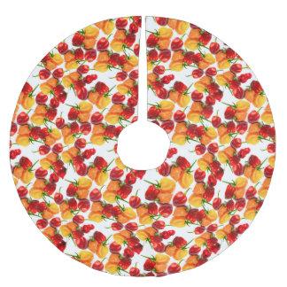 Habaneroの唐辛子の赤唐辛子のオレンジ熱い食糧 ブラッシュドポリエステルツリースカート
