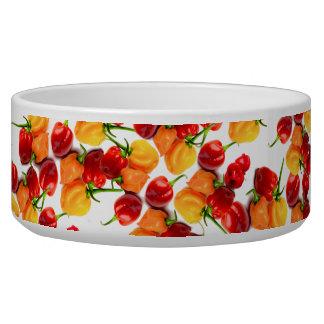 Habaneroの唐辛子の赤唐辛子のオレンジ熱い食糧 犬の水皿