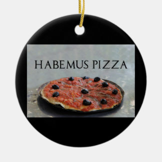 Habemusピザクリスマスのオーナメント セラミックオーナメント