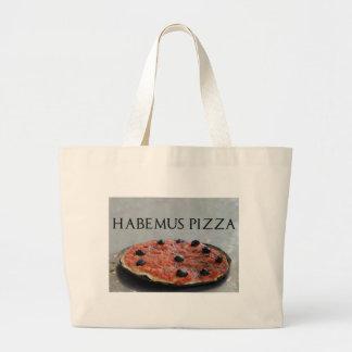 Habemusピザトートバック ラージトートバッグ