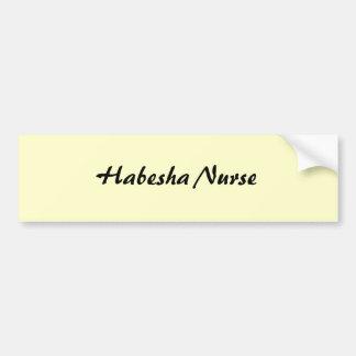 Habeshaのナース バンパーステッカー