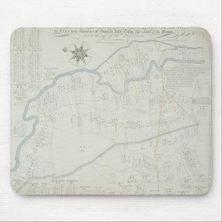 Hackneyの沼地1745年の新しく、正しい地図(lith マウスパッド