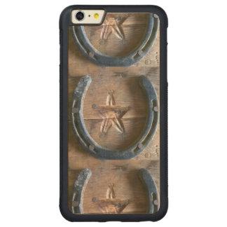 Hackney確実な牧場西部の芸術はカスタム設計します! CarvedメープルiPhone 6 Plusバンパーケース