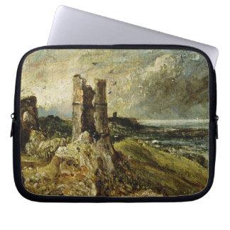 Hadleighの城(右ページ)のスケッチ(millboarの油 ラップトップスリーブ