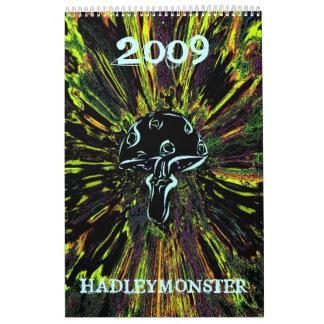 HADLEYMONSTER 2009のきのこ カレンダー