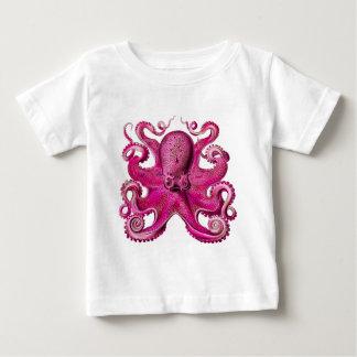 Haeckelのタコのピンク ベビーTシャツ