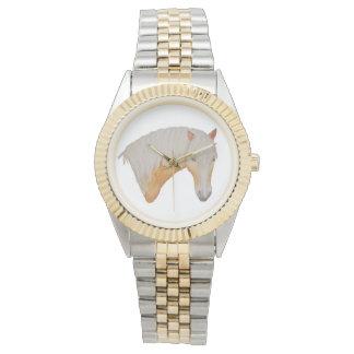 Haflingerの水彩画の腕時計 腕時計