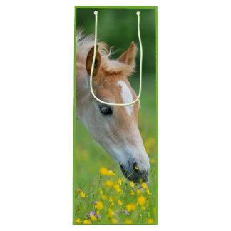 Haflingerの馬のかわいい子馬 ワインギフトバッグ