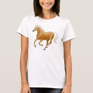 HaflingerのPalominoの馬の女性ベビードールのワイシャツ Tシャツ