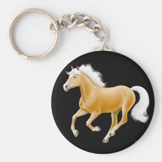 HaflingerのPalominoの馬のKeychainの黒 キーホルダー