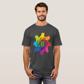 HAfSの男性基本的なTシャツ(木炭ヒースかロゴ) Tシャツ