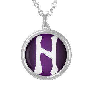HagalazのRuneのネックレス シルバープレートネックレス