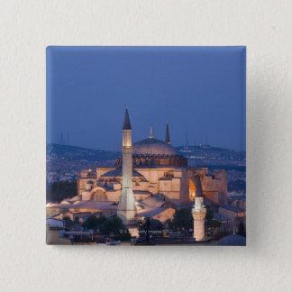 Haghia Sophiaの眺め 5.1cm 正方形バッジ