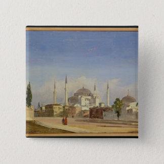 Haghia Sophia、コンスタンチノープル1843年(キャンバスの油 5.1cm 正方形バッジ