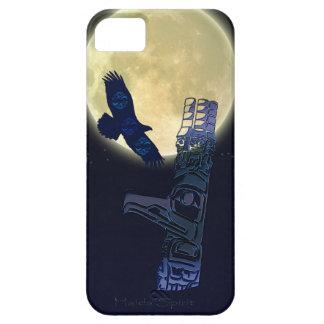 Haidaのワシ、満月及びトーテムポールの先住民の芸術 iPhone SE/5/5s ケース