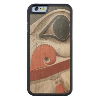 Haidaの伝統の中心博物館のトーテムポール CarvedメープルiPhone 6バンパーケース